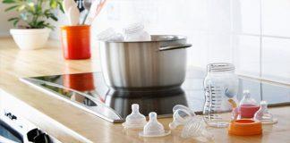 Cách vệ sinh bình sữa cho bé